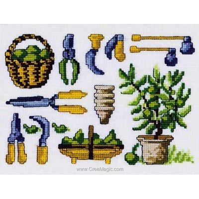 Outils pour jardinage le point de croix - Permin