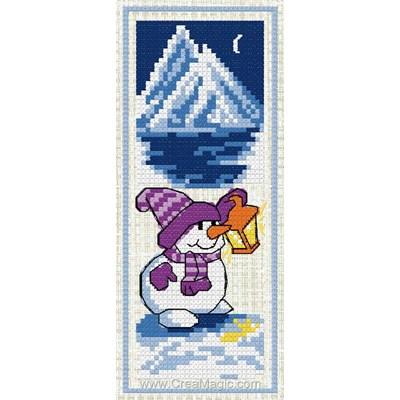 Marque-page à broder bonhomme de neige de Luc Création