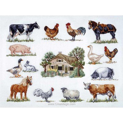Kit point de croix Permin les animaux de la ferme 3