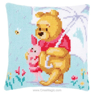 Kit coussin au point de croix winnie - confidences de Vervaco