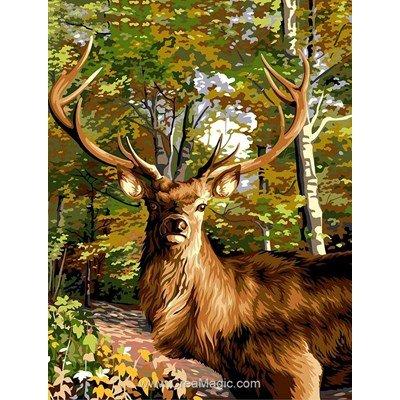 Cerf prince de la forêt canevas chez Margot