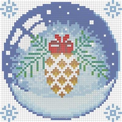 Kit broderie diamant Diamond Painting christmas cone