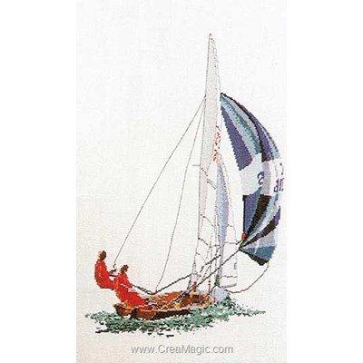 Point de croix de Thea Gouverneur à broder sailing sur lin