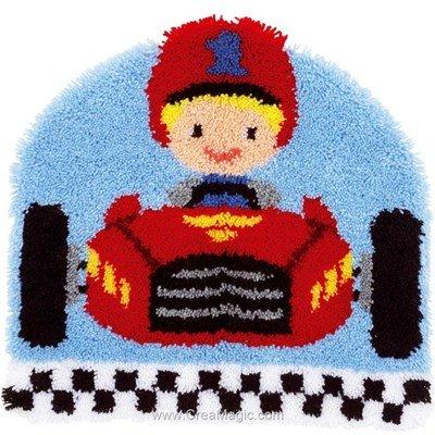 Kit tapis point noué Vervaco bolide de course