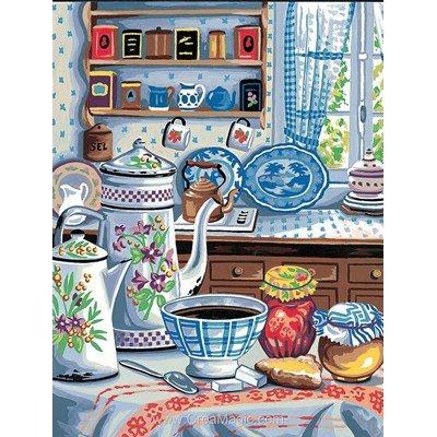 Dans la cuisine autrefois canevas - Margot