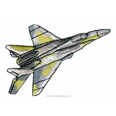 Motif thermocollant avion armée de MLWD