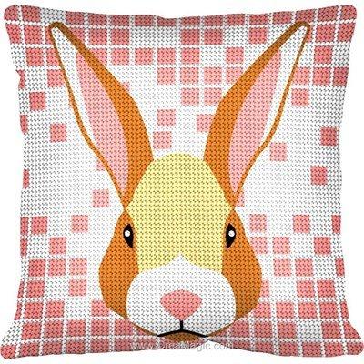 Kit coussin rabbit smile de Margot au demi point