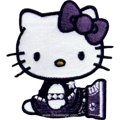 Ecusson brodé thermocollant hello kitty mon petit cœur - MLWD
