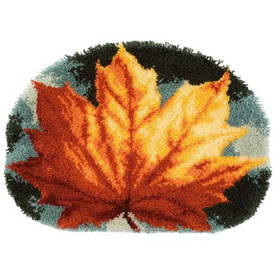 Tapis point noue feuille d'automne - Vervaco