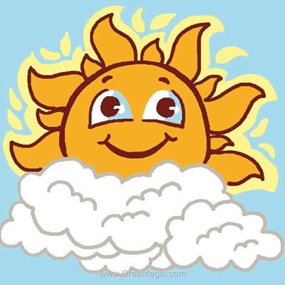 Soleil kit canevas Luc Création pour enfants