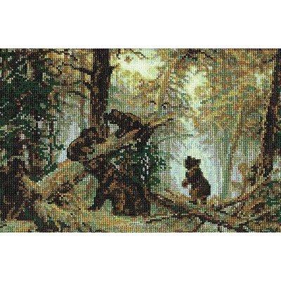 Broderie en point compté RIOLIS les ourson au coeur de forêt