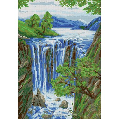 Broderie diamant la cascade - Diamond Painting