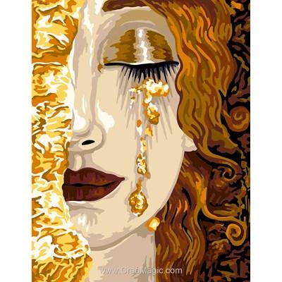 Les larmes d'or de freyja canevas - Margot