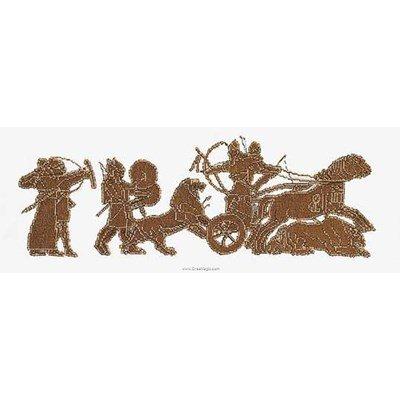 Kit à broder point de croix Thea Gouverneur persian frieze sur lin
