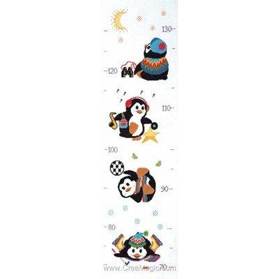 Toises enfants Princesse à broder les pingouins