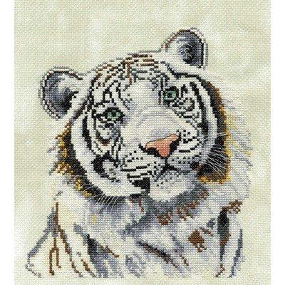 Modèle broderie au point de croix le tigre blanc - DMC