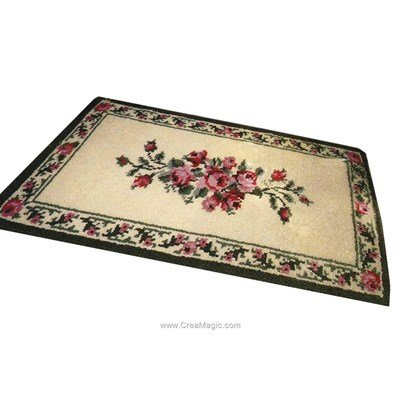 Kit tapis point noue menuet rose - Smyrnalaine
