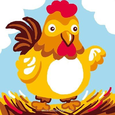 Kit canevas Luc Création pour enfants petite poulette