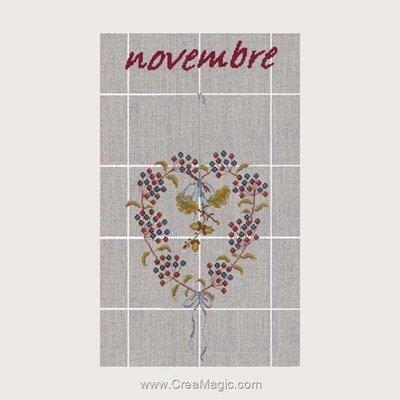 Torchon novembre - 11 à broder - Le Bonheur Des Dames