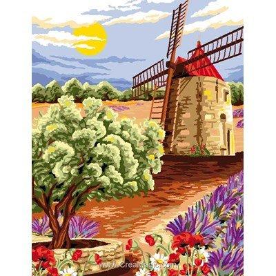 Moulin des oliviers canevas - Luc Création