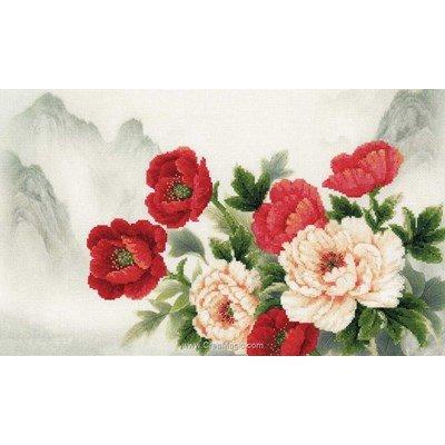Kit tableau RIOLIS point de croix bouquet oriental