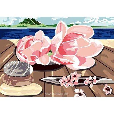 Canevas Luc Création magnolia sur le ponton