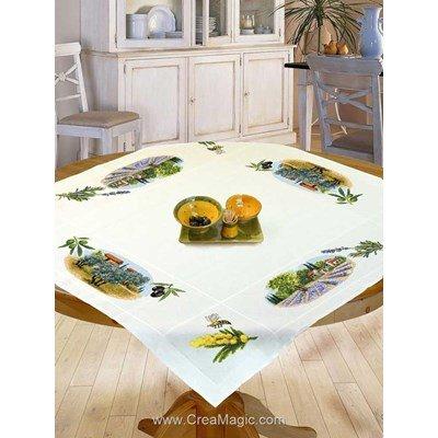 nappe point de croix compt s creamagic. Black Bedroom Furniture Sets. Home Design Ideas
