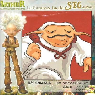 Arthur et les minimoys - a kit canevas SEG pour enfants
