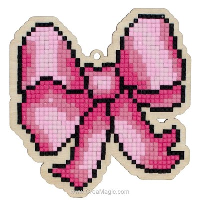 Broderie diamant pink ribbon de Wizardi