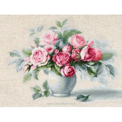 Etude avec des roses kit Luca-S à broder