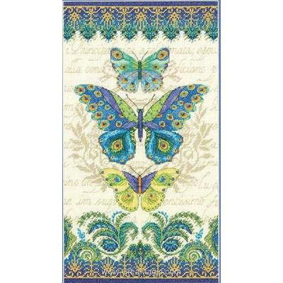 Modèle broderie au point de croix peacock butterflies - Dimensions