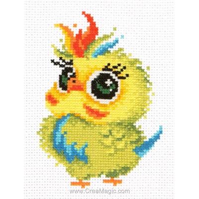 Petit perroquet multicolor kit à broder point de croix - Magic Needle