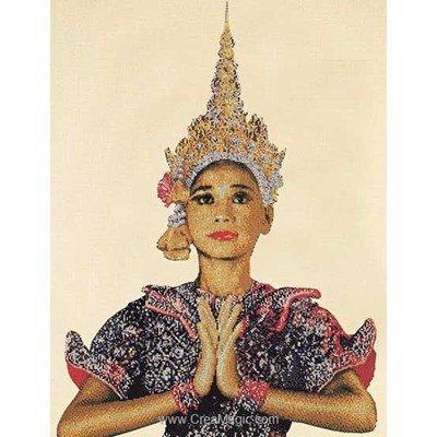 Kit à broder point de croix Thea Gouverneur la thailandaise sur aida