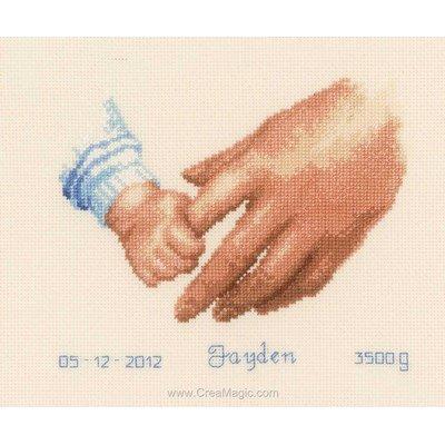 Broderie naissance b b et tableau pr nom point de croix for Tableau fille ou garcon