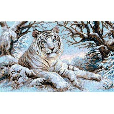 Broderie au point compté RIOLIS tigre du bengal blanc