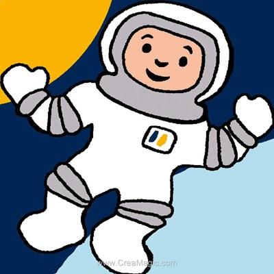 Kit canevas Luc Création pour débutant homme de l'espace