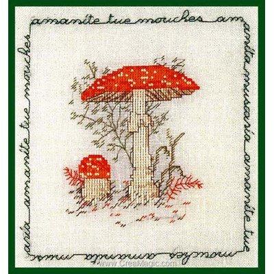 Kit broderie de Le Bonheur Des Dames au point de croix champignon - amanite tue-mouches