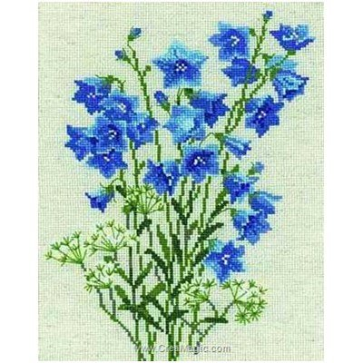 Kit tableau point de croix RIOLIS blue bells