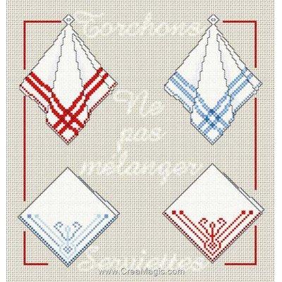 Kit Anagram à broder au point de croix torchons et serviettes