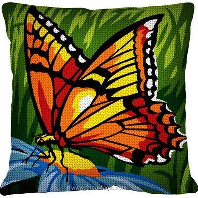 Kit coussin SEG papillon doré au demi point