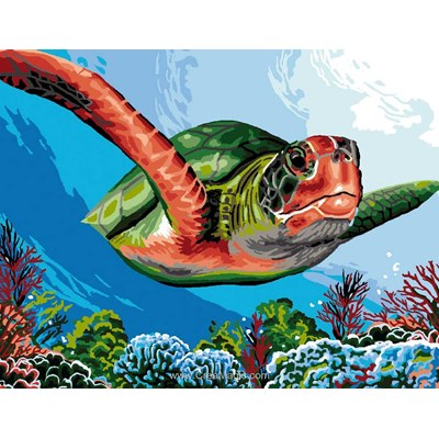 Luc Création canevas tortue de mer
