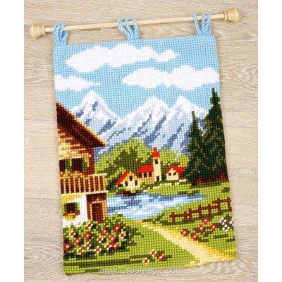Kit tapis au point de croix Vervaco village alpin