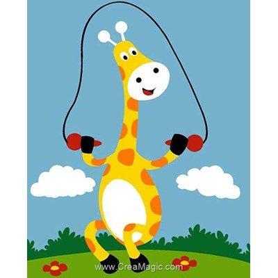Kit canevas Margot pour enfants girafe et corde à sauter