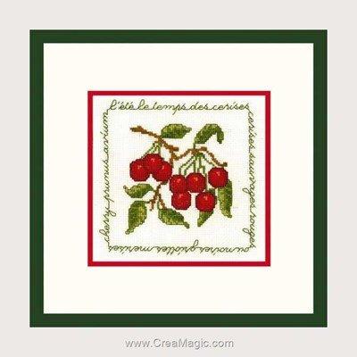 Kit à broder au point de croix Le Bonheur Des Dames les cerises rouges