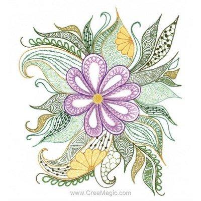Kit de broderie traditionnelle lovely flower de RIOLIS