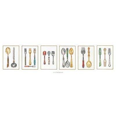 Broderie en point compté cutlery sur lin - Thea Gouverneur