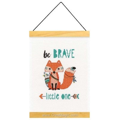 Broderie au point de croix compté be brave - Dimensions