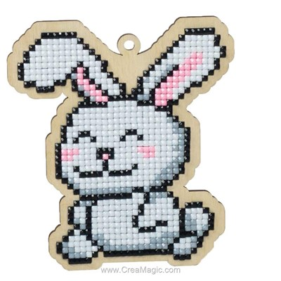 Kit broderie diamant Wizardi white rabbit