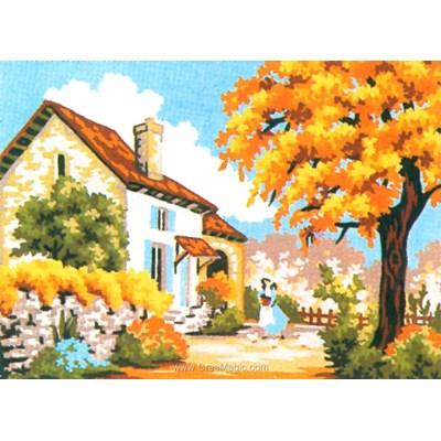 Canevas chez moi en automne de Collection d'art