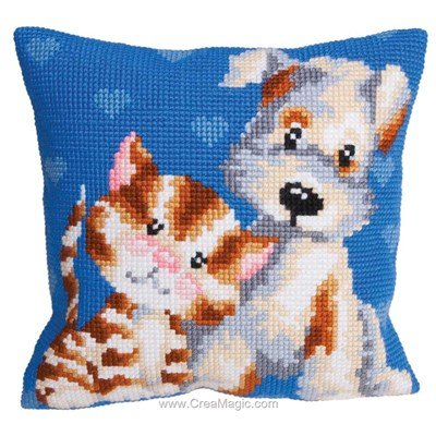 Kit coussin au point de croix Collection d'art les amis